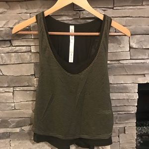 Brand new lululemon crop 2 layer top size 6